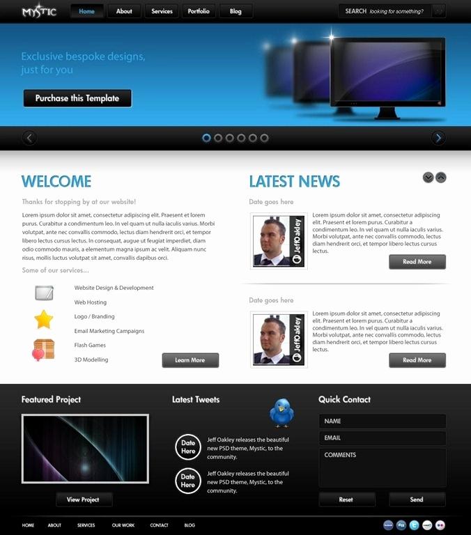 Free Professional Website Templates Luxury Professional Website Templates Psd