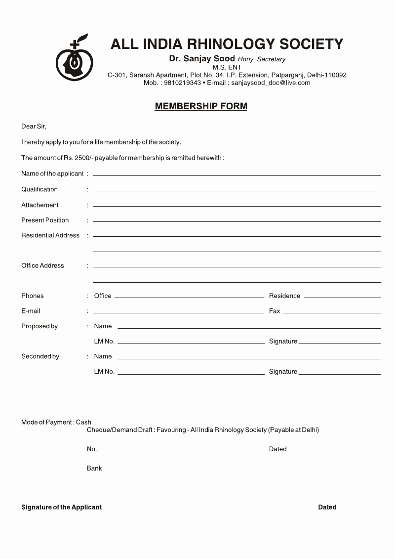 Free Registration forms Template Beautiful Medical Registration form format Template