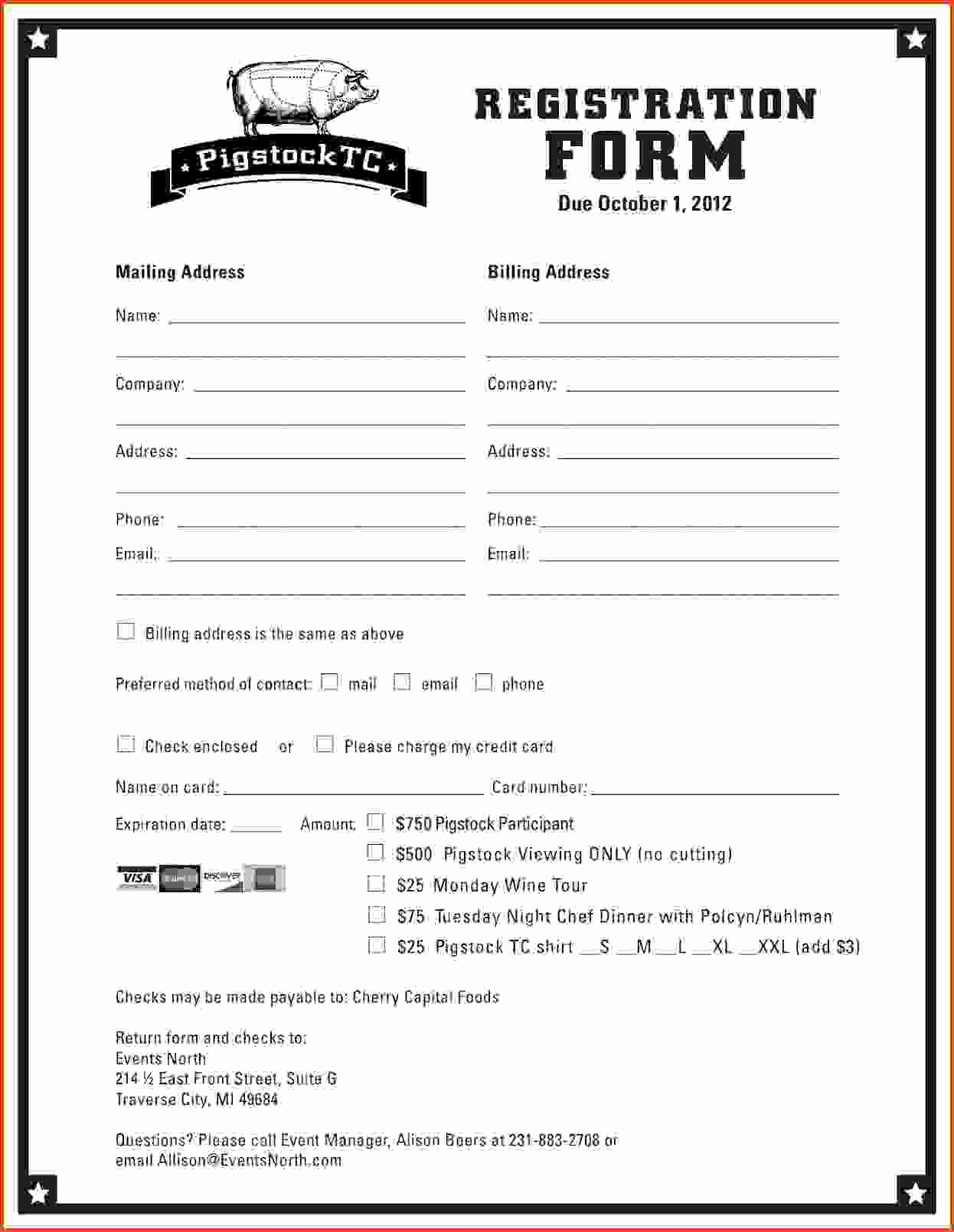 Free Registration forms Template Best Of Printable Registration form Template