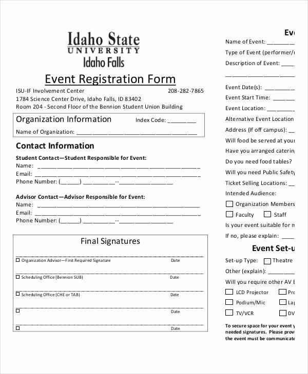 Free Registration forms Template Elegant Printable Registration form Templates 9 Free Pdf