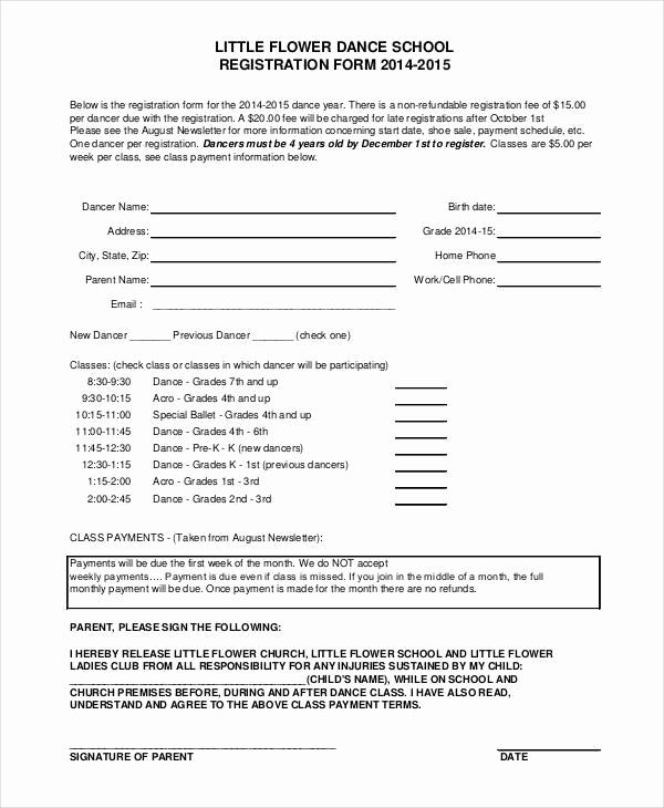 Free Registration forms Template Elegant Registration form Template 9 Free Pdf Word Documents