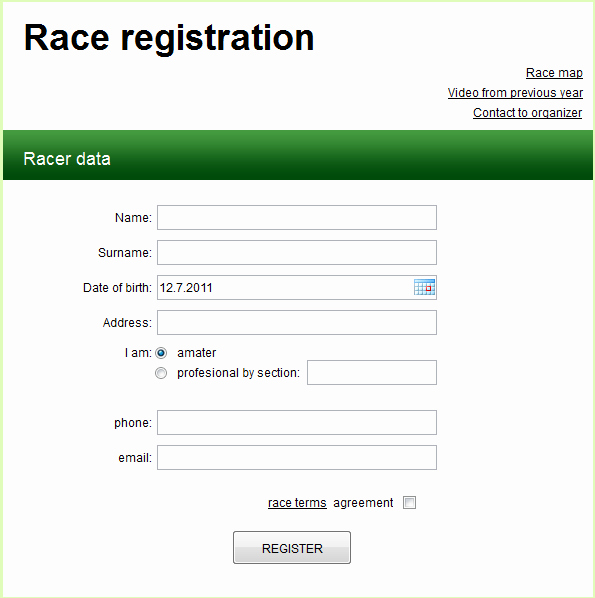 Free Registration forms Template Luxury Registration form Template Free Download