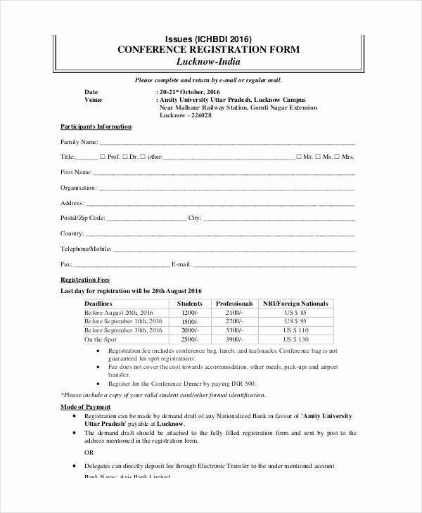 Free Registration forms Template Unique Printable Registration form Template