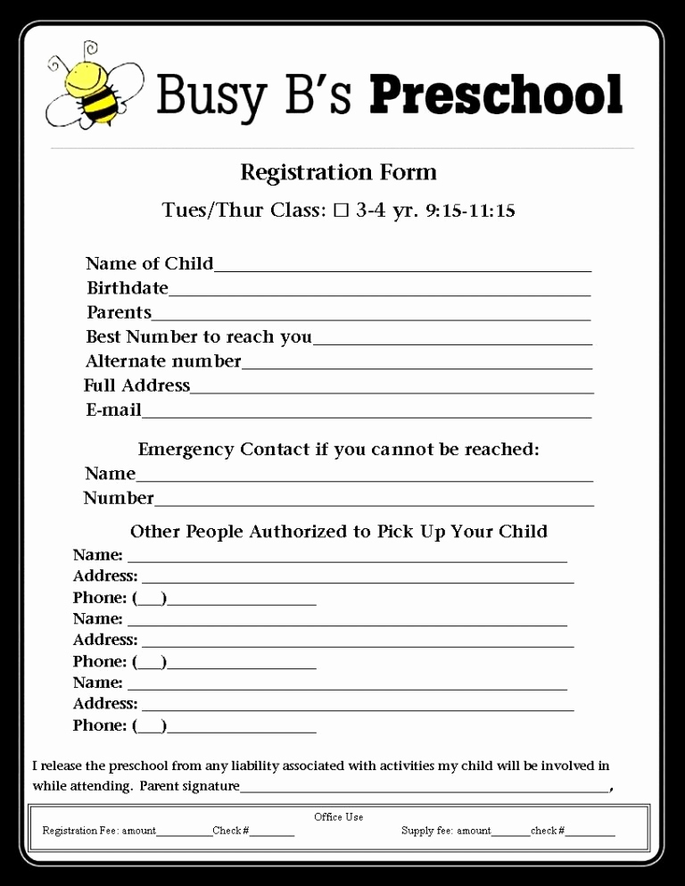Free Registration forms Template Unique Registration form Template
