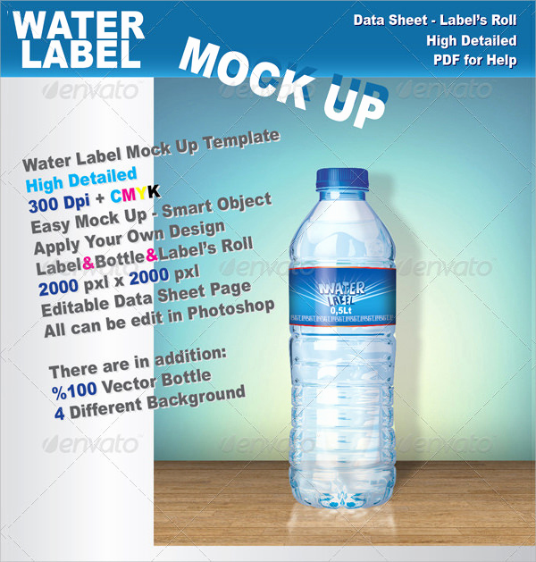 Free Water Bottle Template Beautiful 24 Sample Water Bottle Label Templates to Download