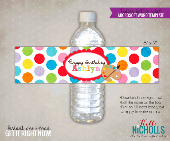 Free Water Bottle Template Best Of Water Bottle Label Template – 29 Free Psd Eps Ai