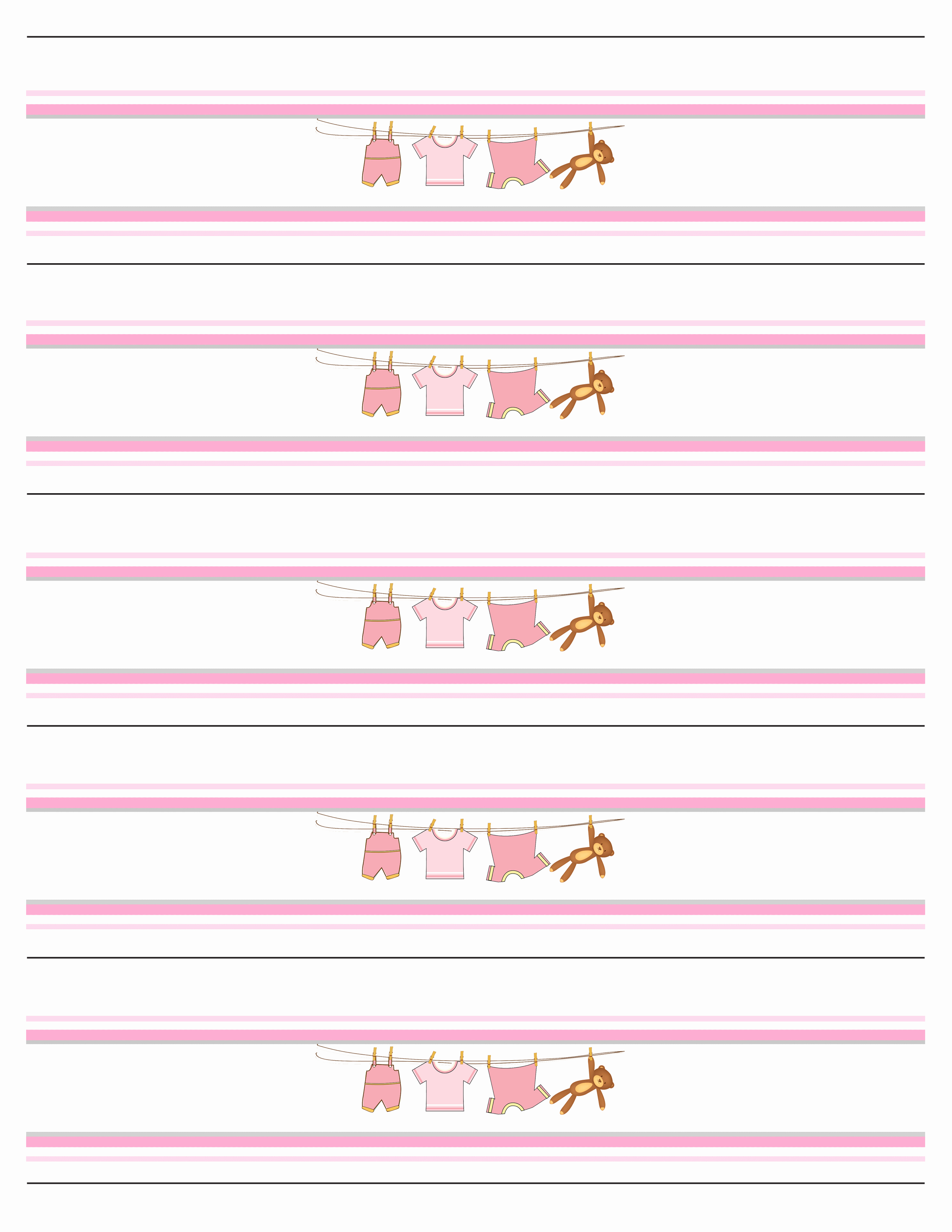 Free Water Bottle Template Lovely Baby Girl Shower Free Printables How to Nest for Less™