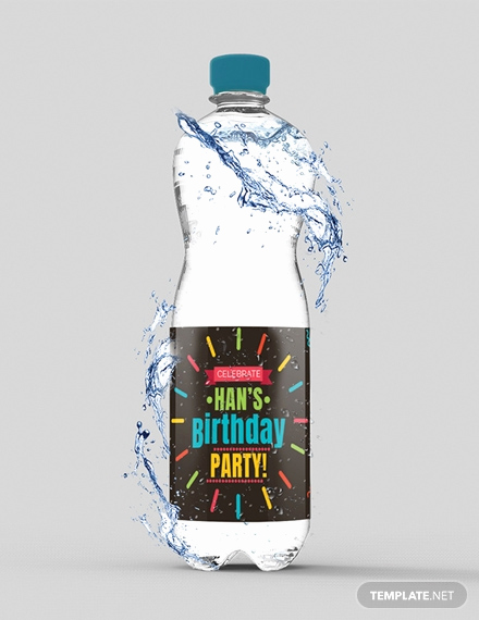 Free Water Bottle Template Luxury Free Water Bottle Paint Label Template Download 121