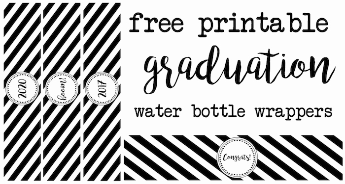 Free Water Bottle Template New Graduation Water Bottle Wrappers Paper Trail Design
