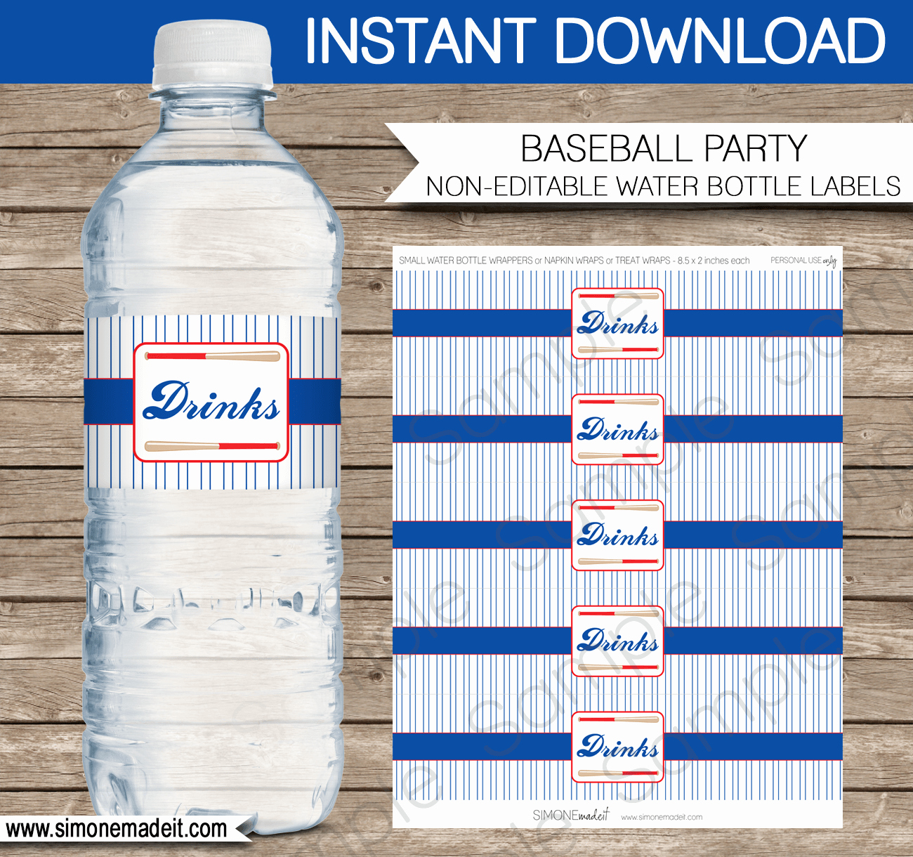 Free Water Bottle Template Unique Baseball Water Bottle Labels
