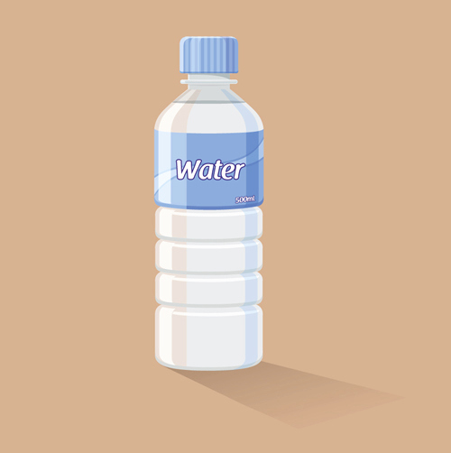 Free Water Bottle Template Unique Vector Water Bottle Template Material 01 Vector Other