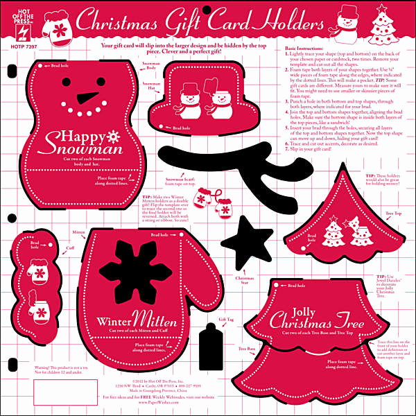Gift Card Holder Template Free Awesome Hot F the Press 12x12 Template Christmas Gift Card