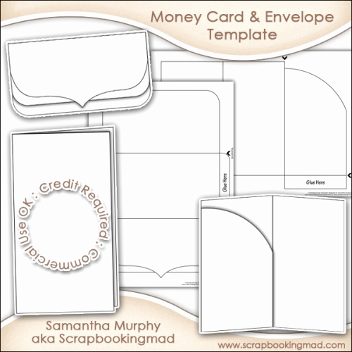 Gift Card Holder Template Free Awesome Money Gift Card & Envelope Template Mercial Use £3 50