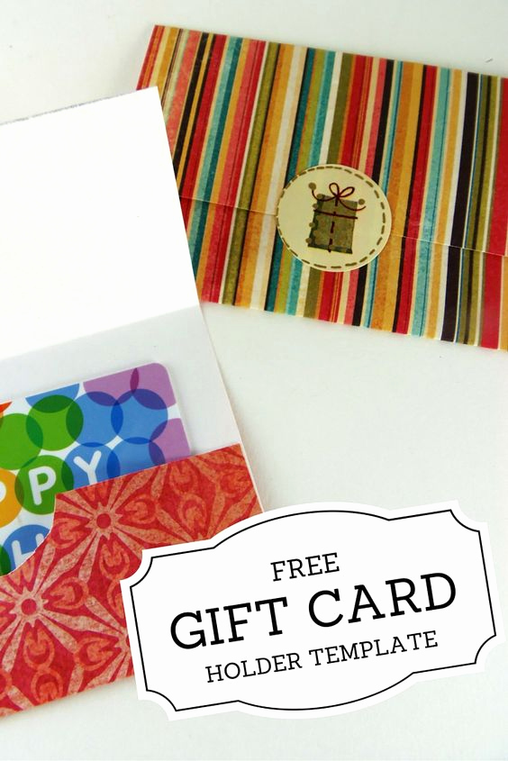 Gift Card Holder Template Free Best Of Gift Card Holders Printable T Cards and Gift Cards On
