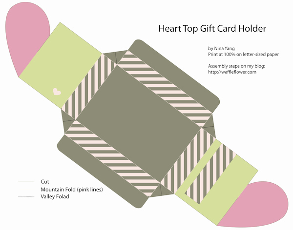 Gift Card Holder Template Free Elegant Free Valentine Gift Card Holder Heart top Box Templates