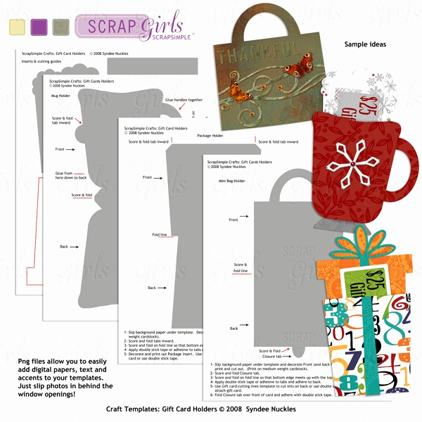 Gift Card Holder Template Free Fresh Scrapsimple Craft Templates Holiday Gift Card Holders
