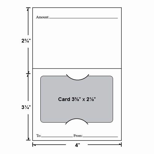 Gift Card Holder Template Free Lovely Economy Standard Gift Card Holder Customizable Gift Card