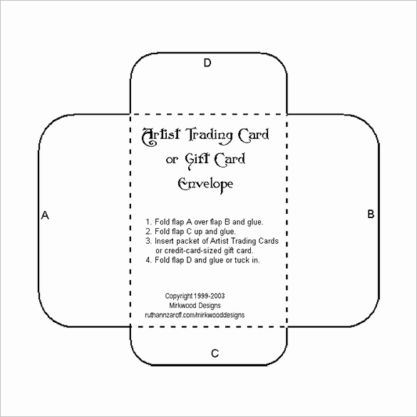 Gift Card Holder Template Free Luxury 10 Gift Card Envelope Templates Free Printable Word