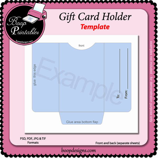 Gift Card Holder Template Free Unique Gift Card Holder Template by Boop Printable Designs [bp