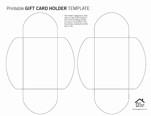 Gift Card Holder Template Free Unique Printable Gift Card Holder Templates