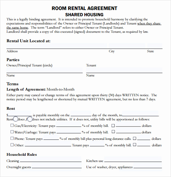 House Rental Contract Template Awesome 10 Sample House Lease Agreements