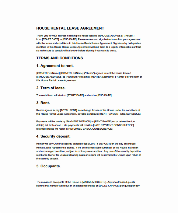 House Rental Contract Template Awesome 15 Rental Contract Templates Pdf Docs Word
