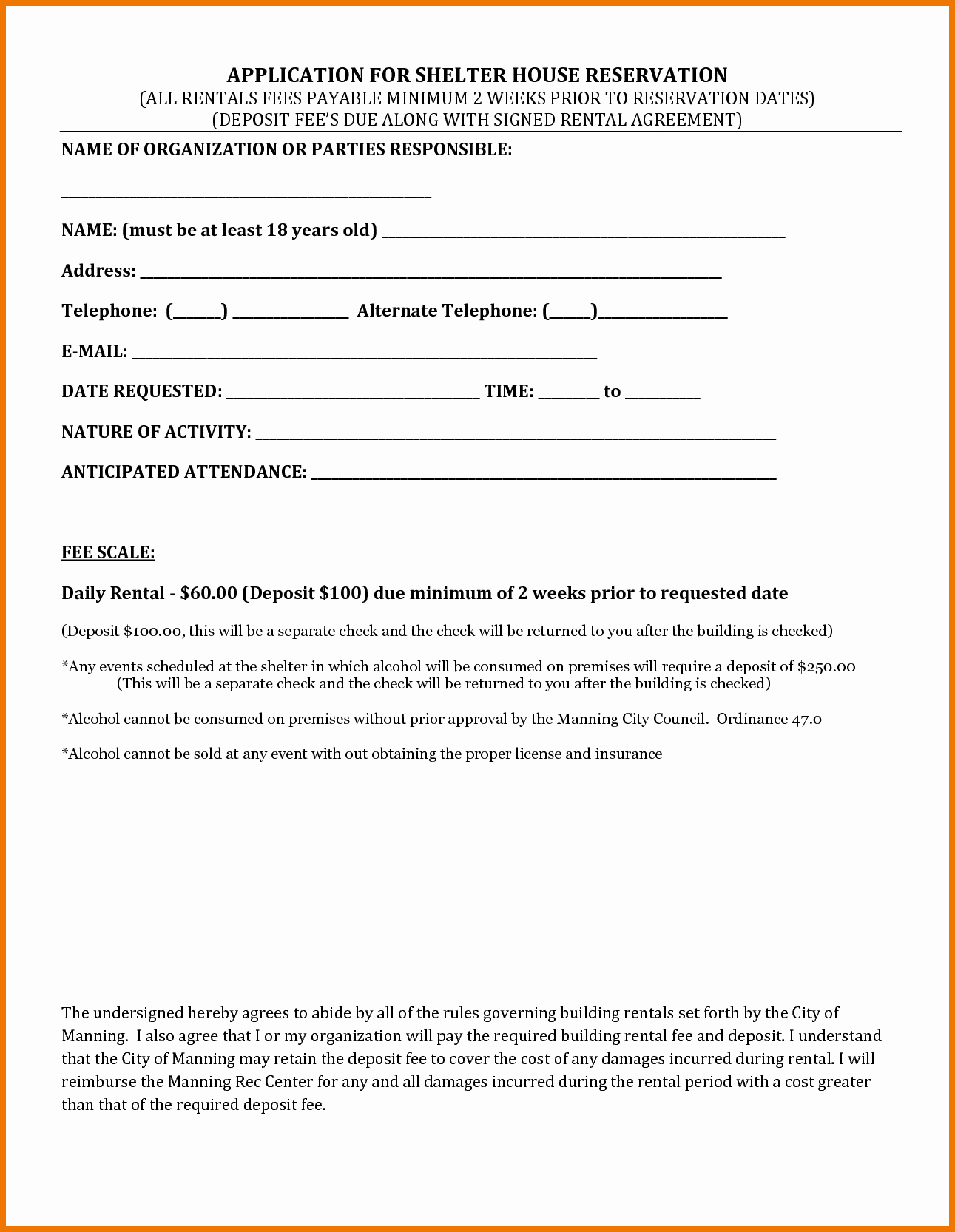 House Rental Contract Template Beautiful 4 Rental House Agreement Itinerary Template Sample