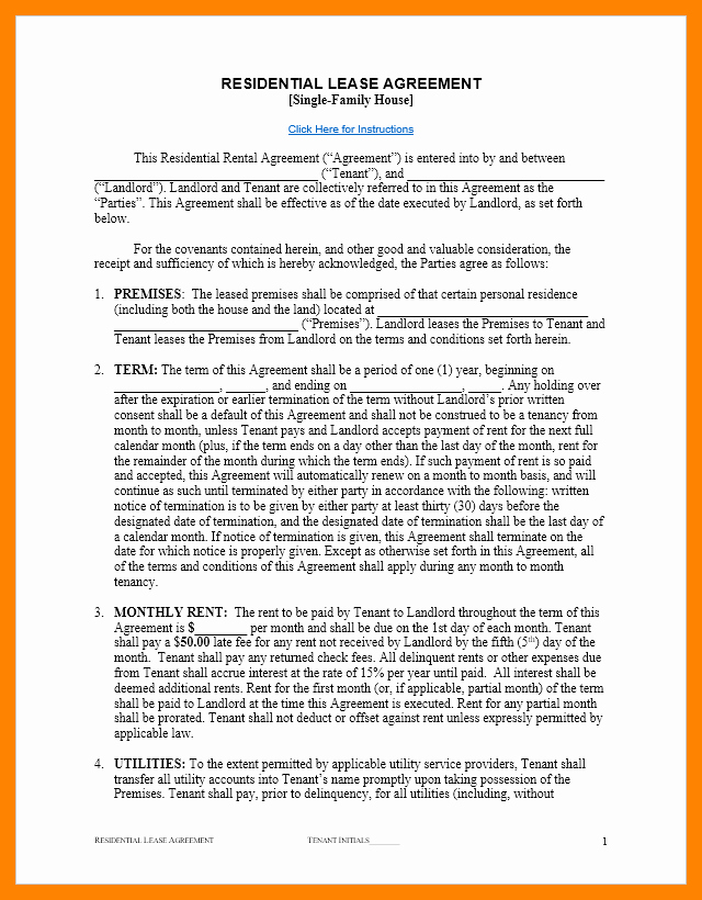 House Rental Contract Template Best Of 8 Free Printable Sample Rental Agreement