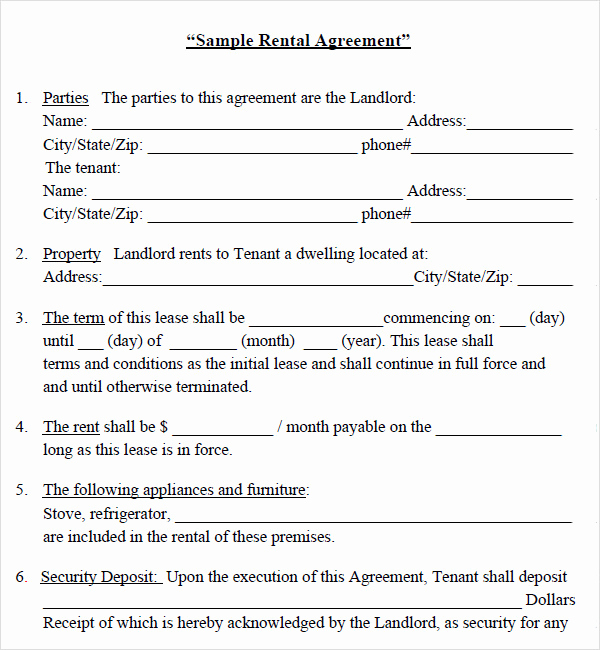 House Rental Contract Template Inspirational 10 Best Of House Rental Agreement Template House