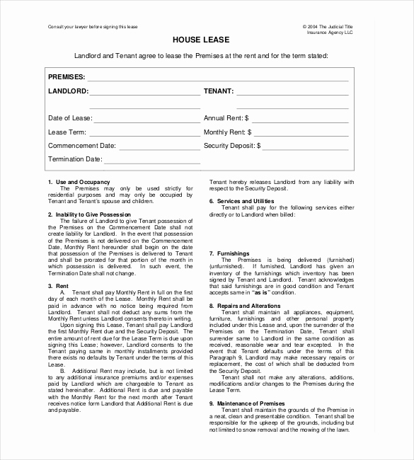 House Rental Contract Template Lovely 24 Rental Agreement Templates Pdf Doc