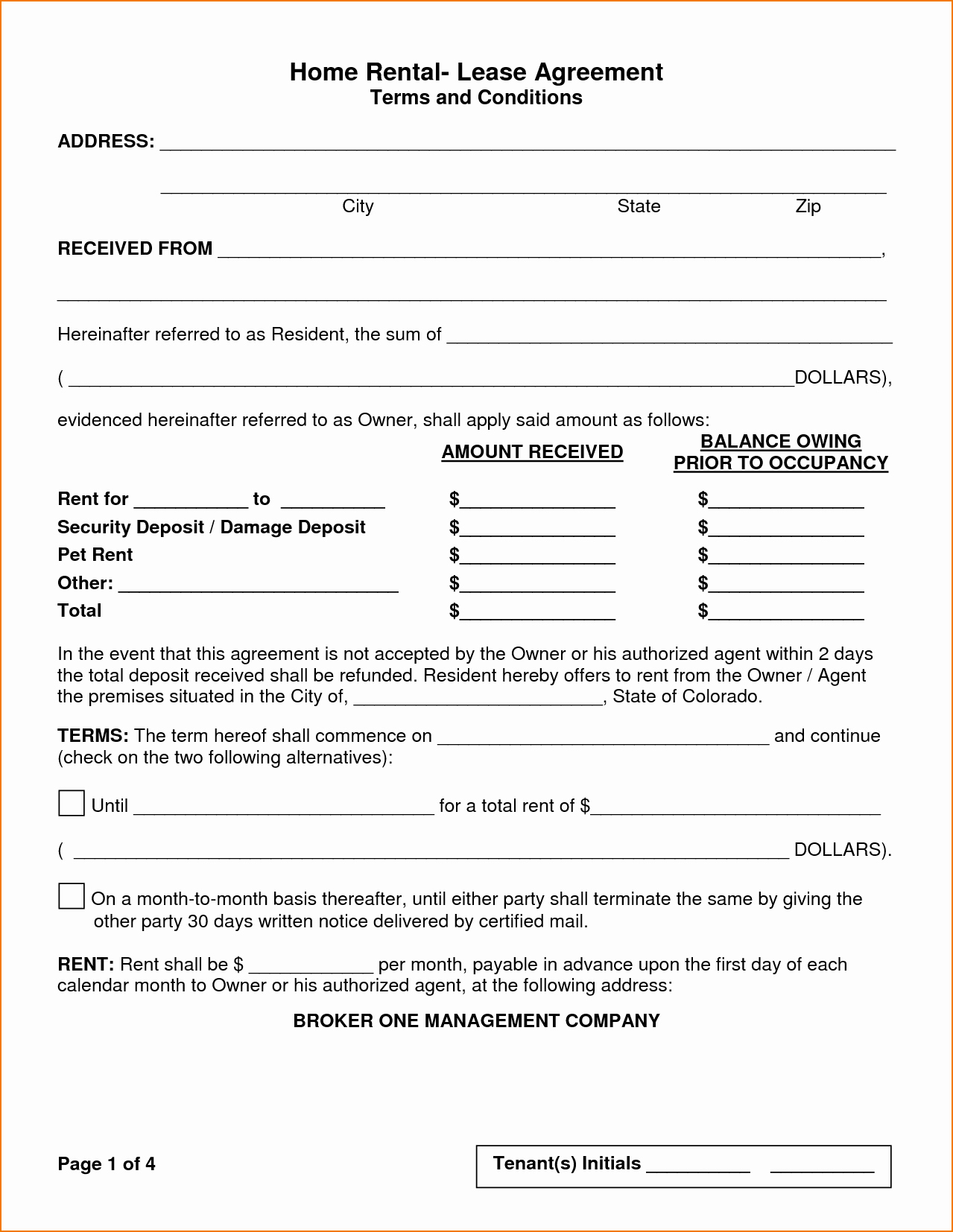 House Rental Contract Template Lovely 5 House Rental Agreement Template