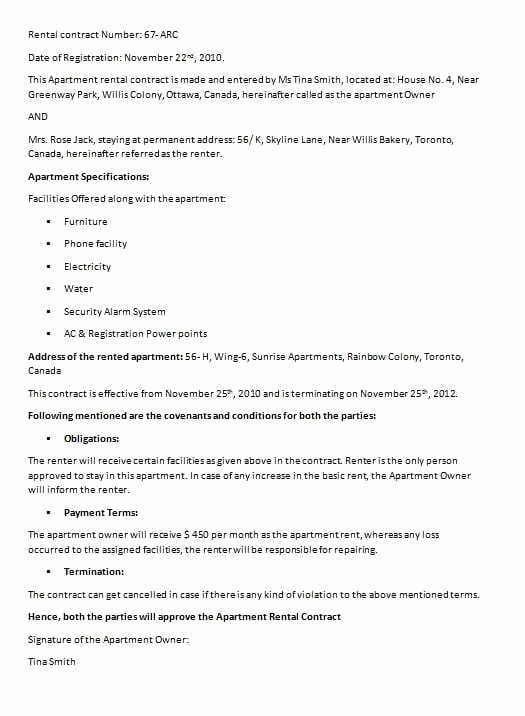 House Rental Contract Template New Free Contract Templates Word Pdf Agreements