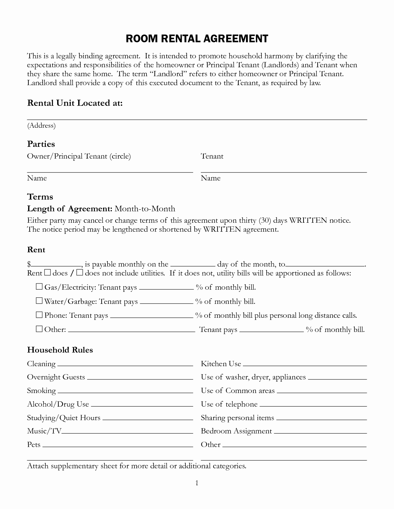 House Rental Contract Template New Lease Agreement Template