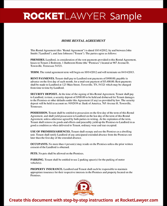 House Rental Contract Template Unique Home Rental Agreement House Lease Contract form Template
