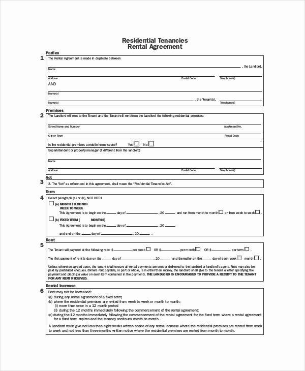 House Rental Contract Template Unique Rental Agreement Template 11 Free Word Pdf Documents