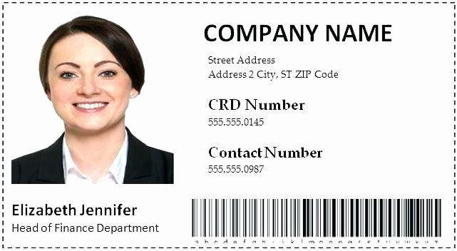 Id Badge Template Photoshop Elegant Employee Id Card Template Badge Shop