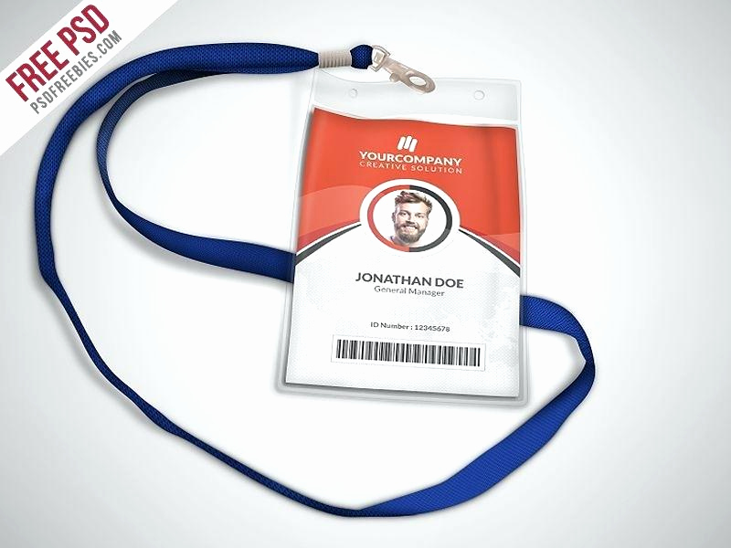 Id Badge Template Photoshop Elegant Id Badge Template Free Employee Shop – Arabnormafo
