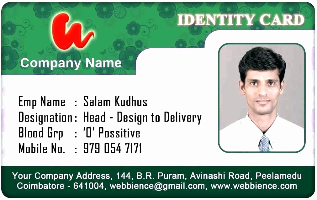 Id Badge Template Photoshop Fresh Identification Badge Template Doctor Id Badges Free Word