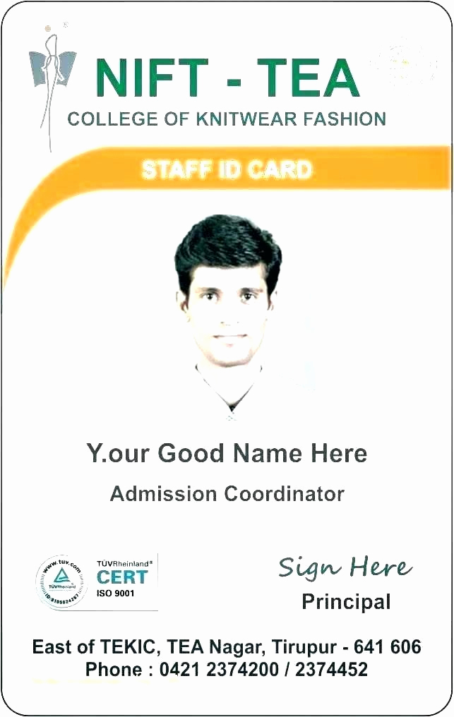 Id Badge Template Photoshop Inspirational Identification Badge Template Doctor Id Badges Free Word