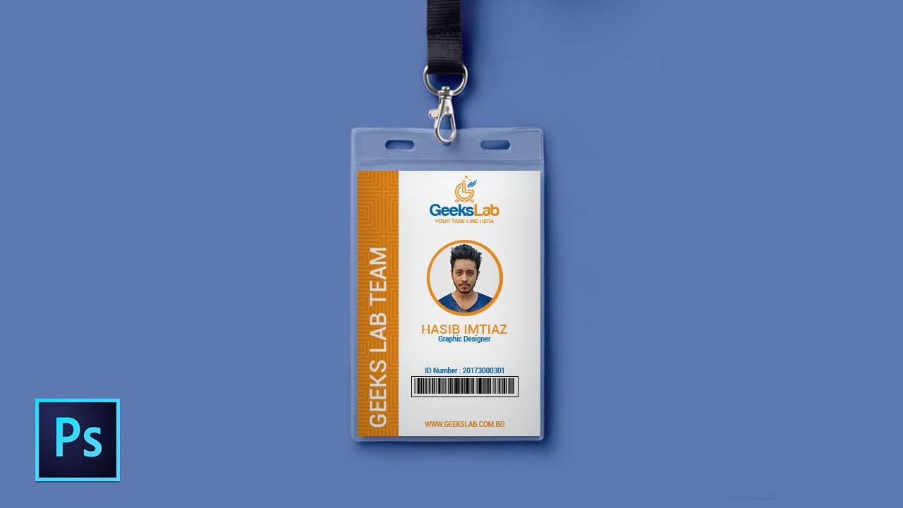 Id Badge Template Photoshop Luxury How to Design Id Card In Shop