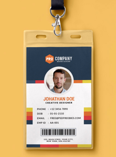 Id Badge Template Photoshop New Employee Id Card Template Shop Free Download