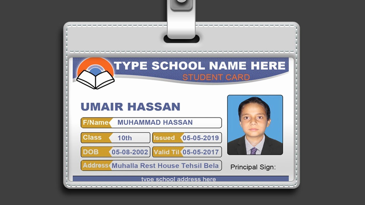 Id Badge Template Photoshop New How to Design Id Card In Shop Psd Free Download