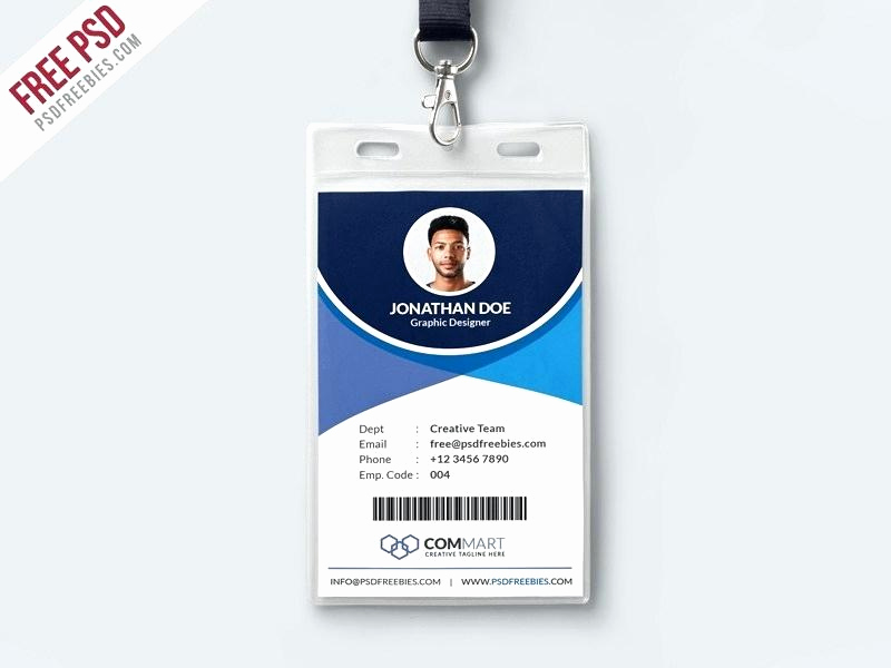 Id Badge Template Photoshop Unique Id Card Brand Design Identity Card Design Employee Id Card
