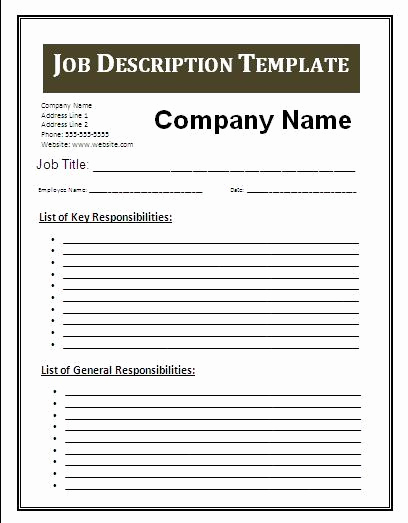 Job Posting Template Word Awesome Job Description Blank Templates Video Search Engine at