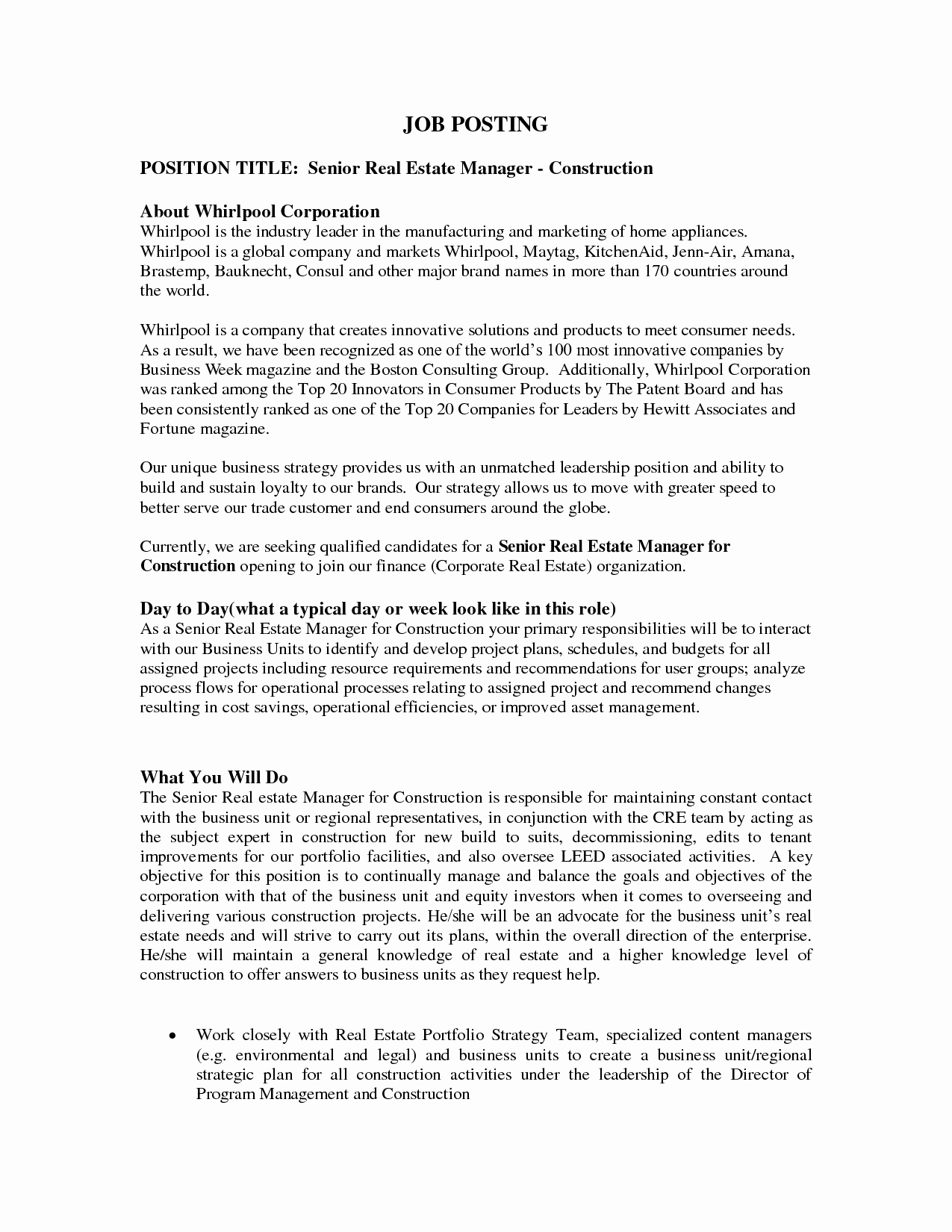 Job Posting Template Word Luxury Best S Of Job Posting Template Internal Job Posting