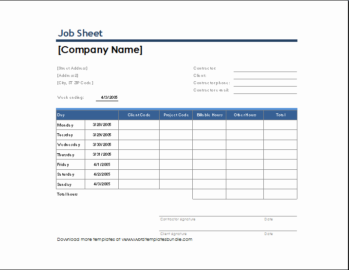 Job Posting Template Word Luxury Job Sheet Template Microsoft Templates