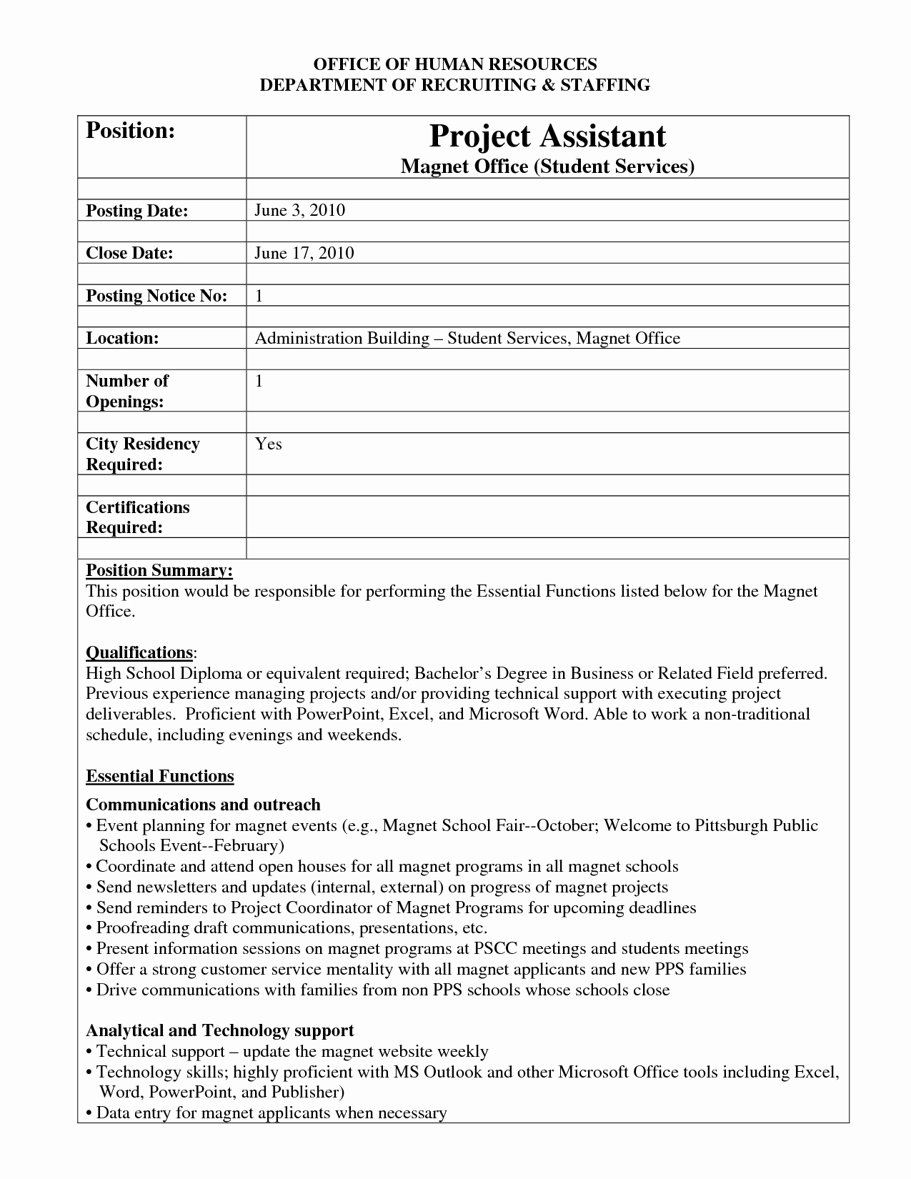 Job Posting Template Word New Best S Of Internal Job Posting Template Word Resume