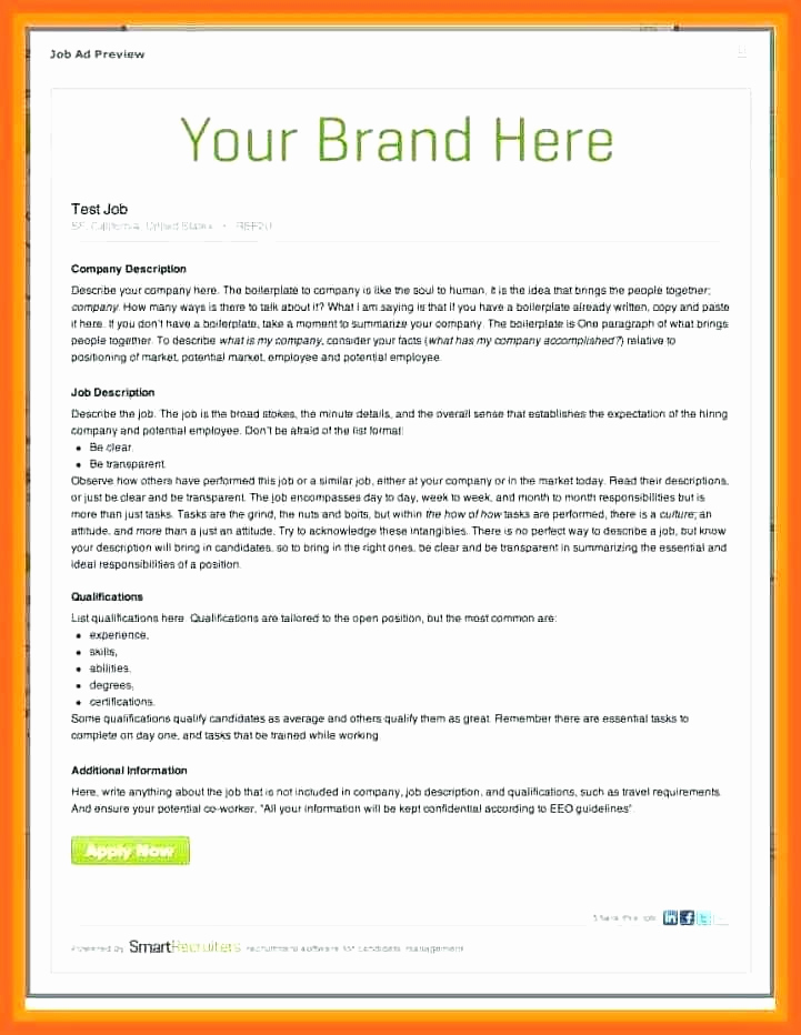 Job Posting Template Word New Blank Brochure Template Word Awesome Interior Decoration