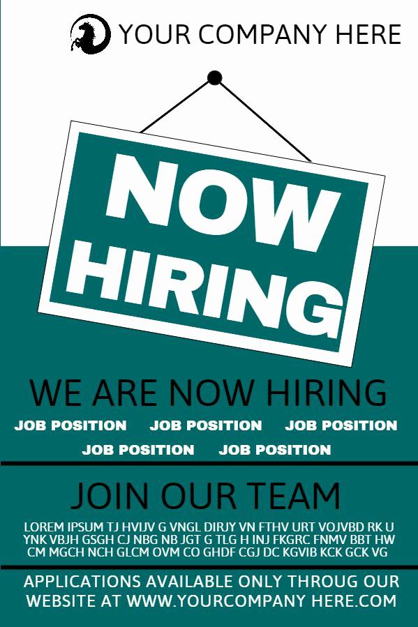 Job Posting Template Word New Job Hiring Poster Design Template to Customize