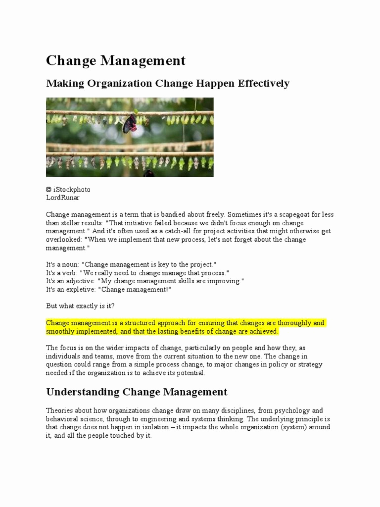 Management Of Change Procedure Template Awesome Simple Change Management Process Diagram Plan Template
